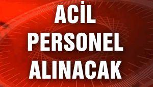ACİL PERSONEL ALINACAK