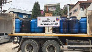 TURGUTLU'DA 20 TON KAÇAK ŞARAP ELE GEÇİRİLDİ