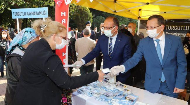 TURGUTLU'DA KORONAVİRÜS İLE MÜCADELE KAMPANYASI BAŞLADI