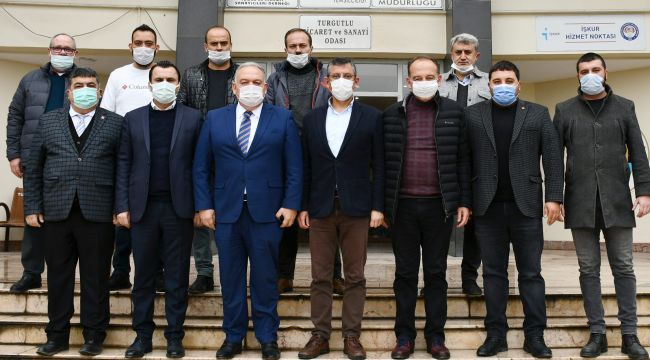 CHP'Lİ ÖZGÜR ÖZEL'DEN TUTSO'YA ZİYARET
