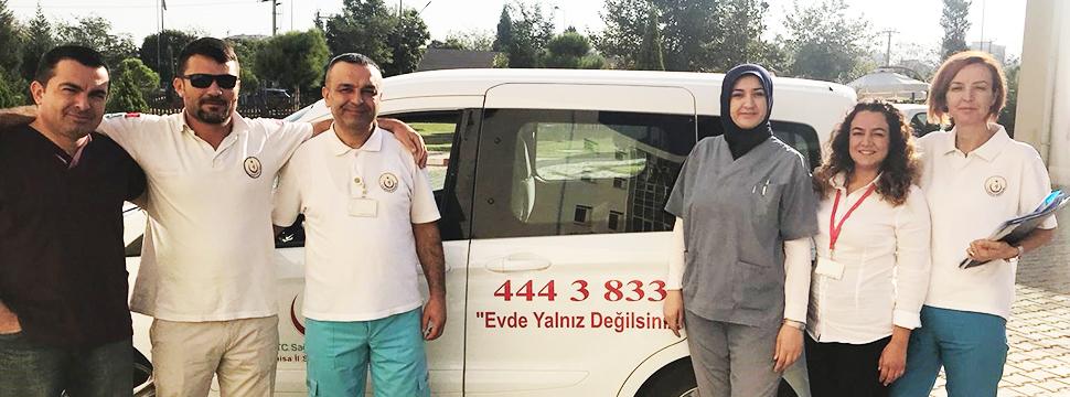 735 Hastaya Evde Sağlık Hizmeti Veriyorlar