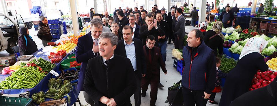 Turgay şirin Pazaryeri Esnafını Ziyaret Etti