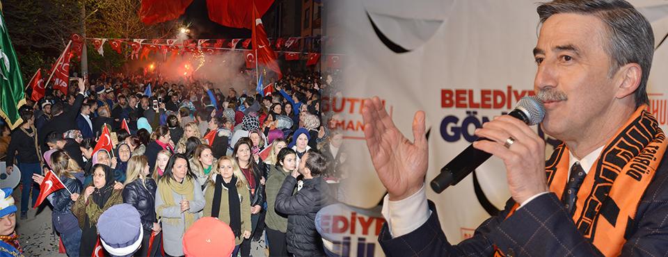 Selvilitepe'de Turgay şirin'e Yoğun İlgi